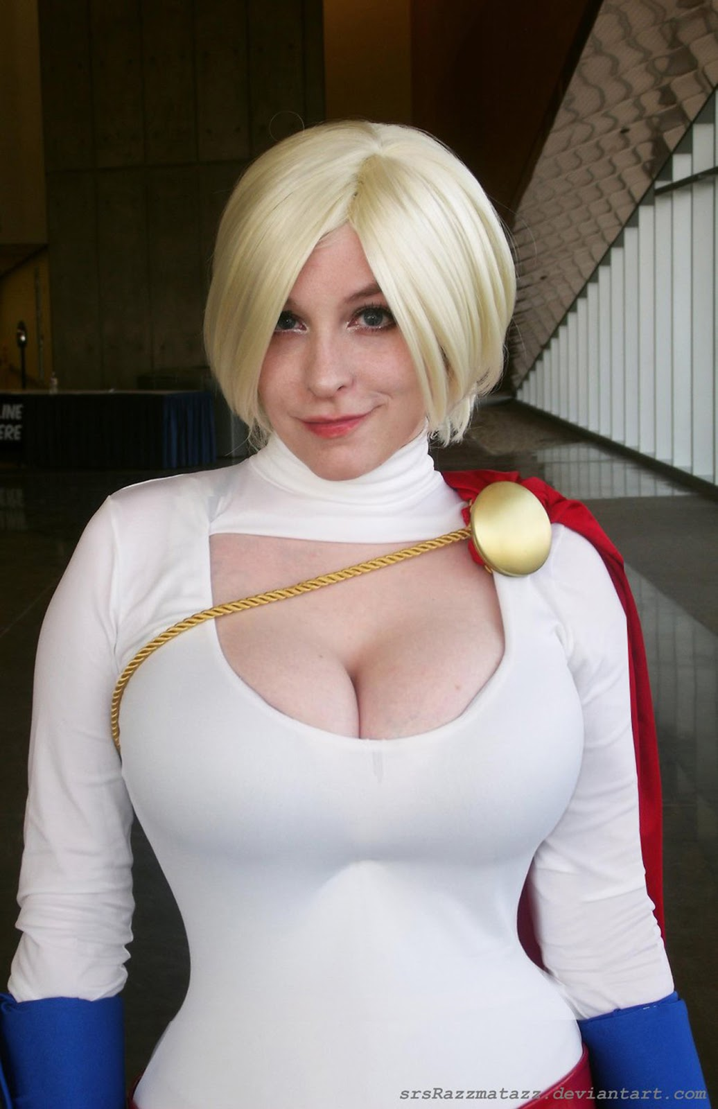 Big tits sexy supergirl costume