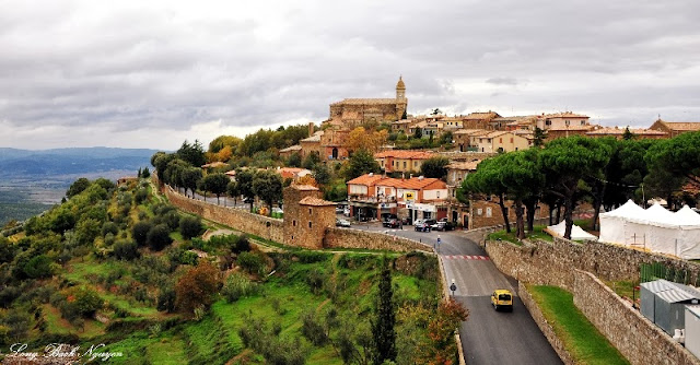 Medival town of Montalcino.