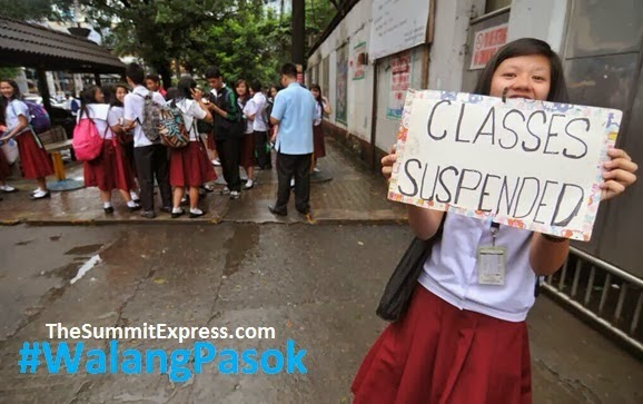 Class suspensions for Friday, October 2, 2015 due to 'Kabayan'