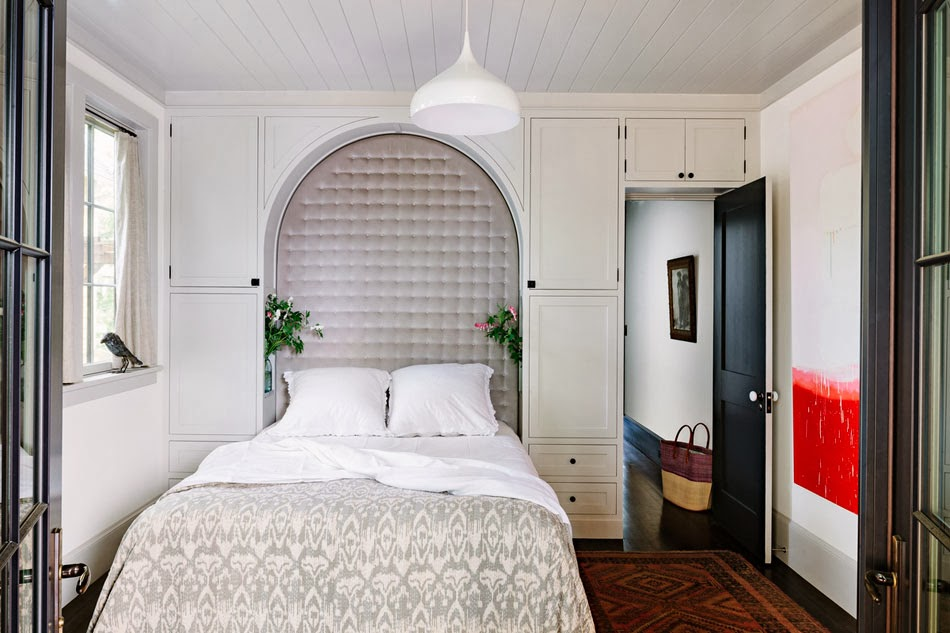 cococozy built in headboard bedroom design idea