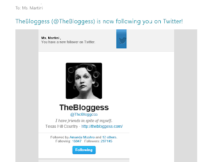 The Blogess Follows Me On Twitter