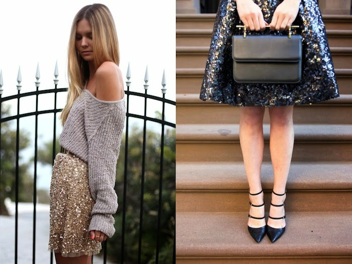 how to wear sequins