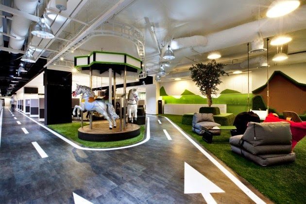 singtel office interior design in singapore by ong ong