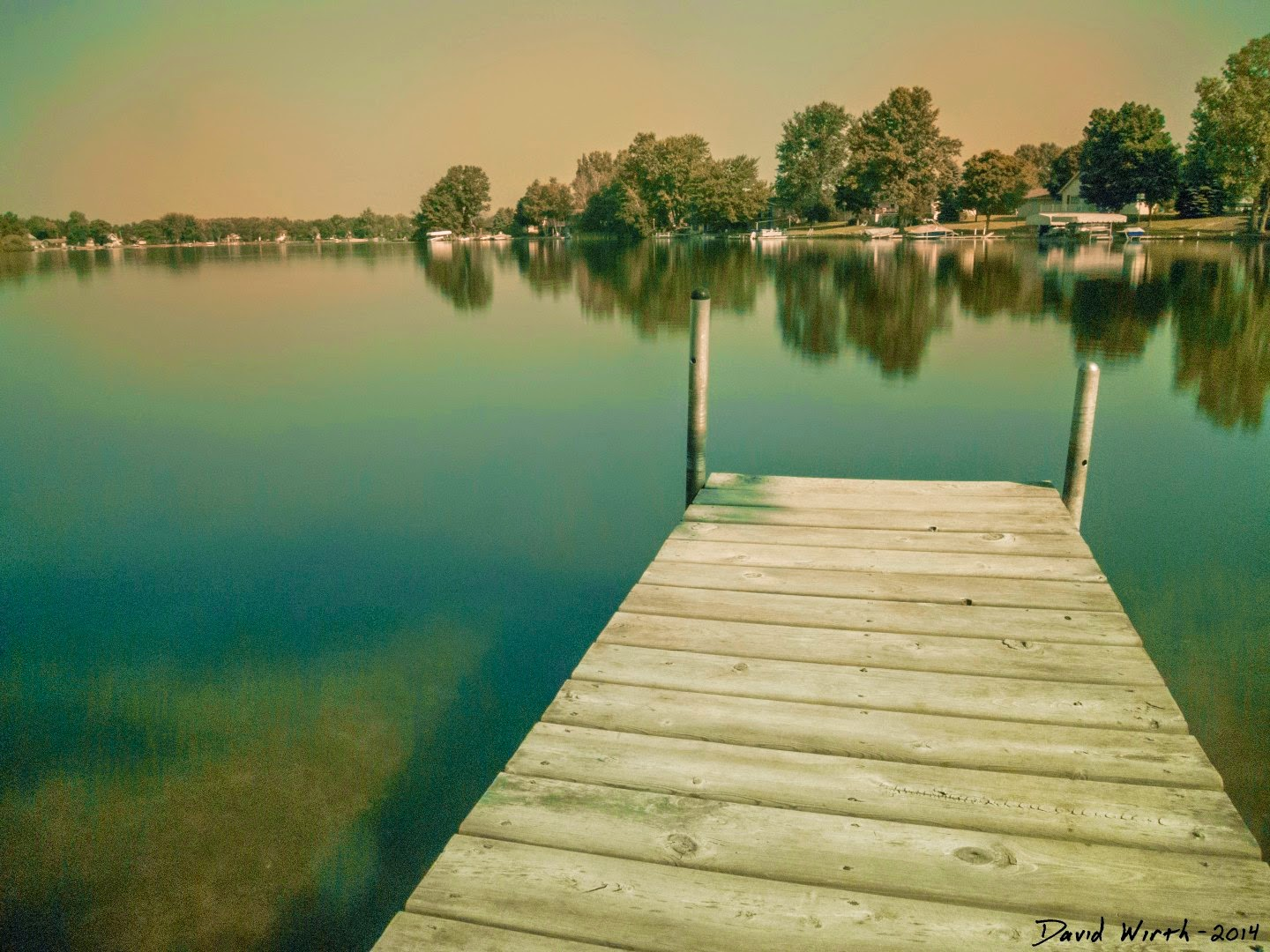 nd filter lake water calm
