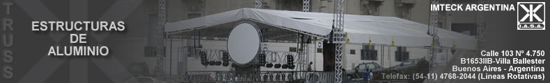 ESTRUCTURAS DE ALUMINIO PARA SHOWS