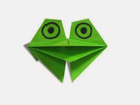 Cách gấp, xếp con ếch kêu bằng giấy origami - Video hướng dẫn xếp hình - How to make a Croaking Frog