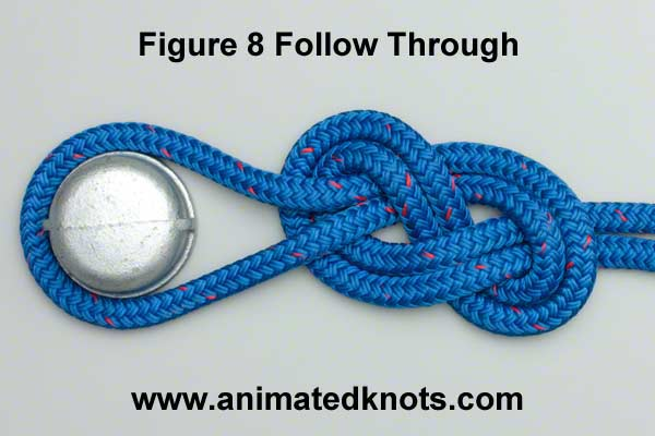 use can also use the follow through knot to join two ropes
