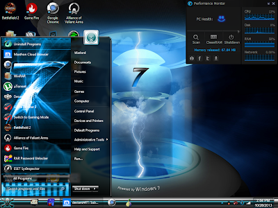 Download New Blue Windows 7 Themes Visual Style Cool