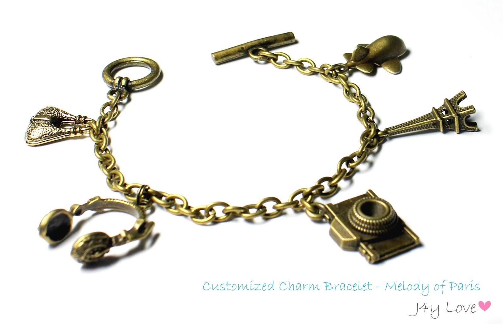 Item Name: Customized Charm Bracelet  Melody Of Paris