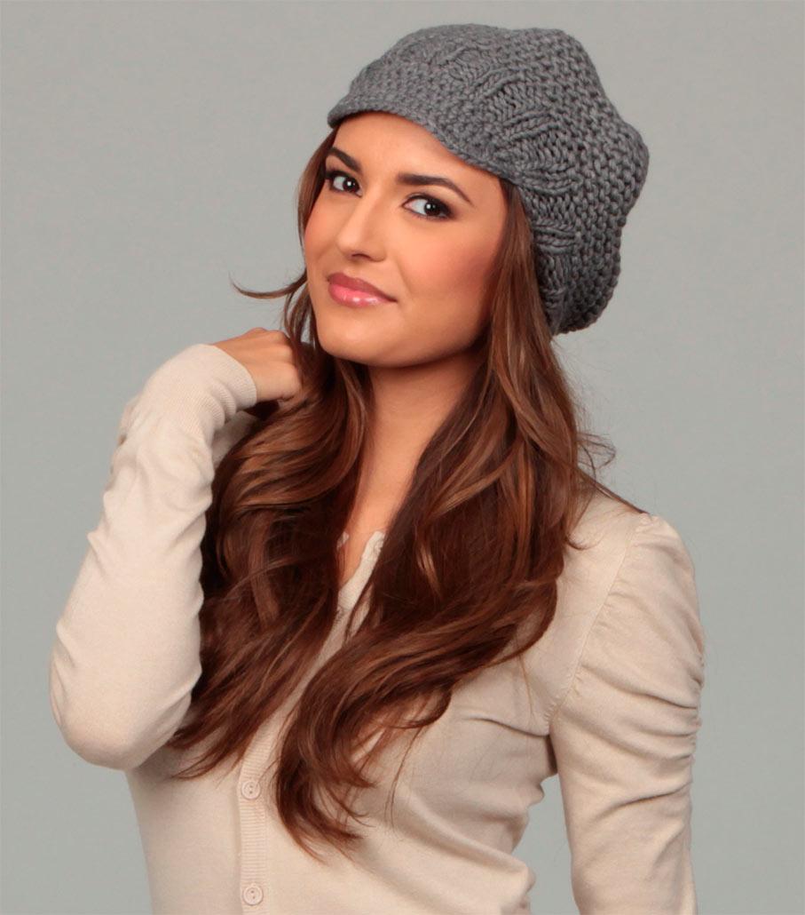 Вязание шапки модной 96