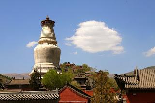 The White Pagoda, located in Taiyuan Temple, Wu Tai Shan