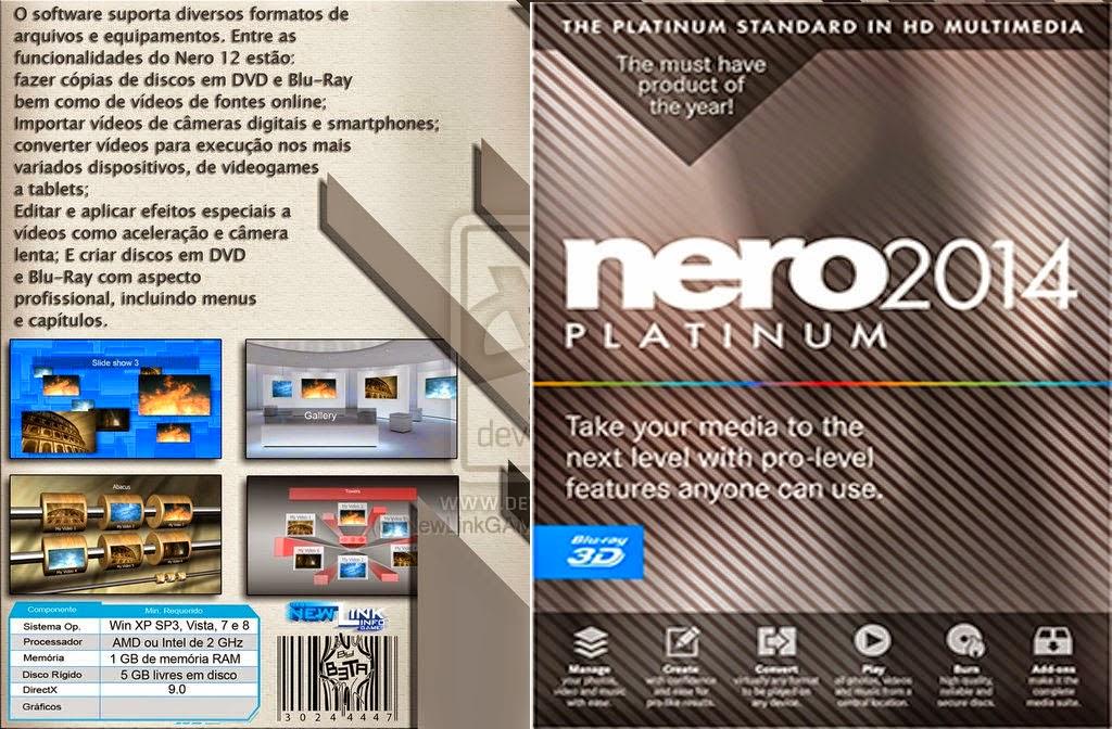 Nero 2014 Platinum DVD Capa