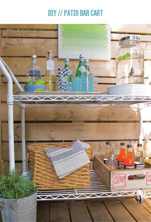 diy patio bar. DIY // Patio Bar Cart {sponsored Post} Diy
