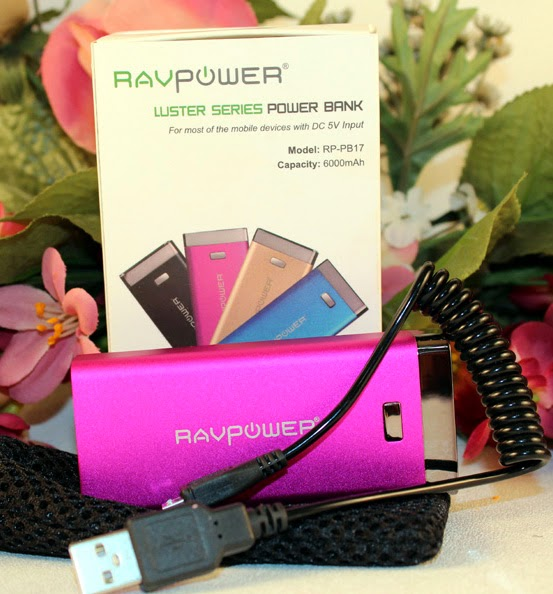 RAVPower Luster Series 6000mAh Power Bank Mobile Cell Phone / Tablet Charger