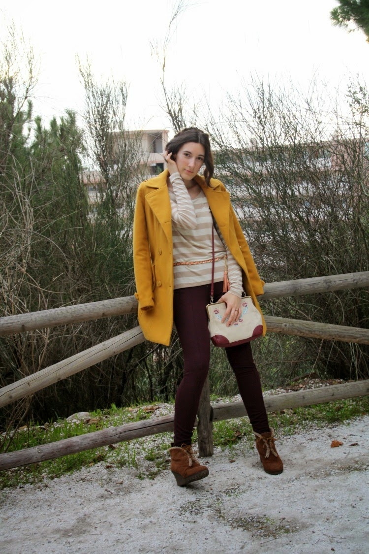 OOTD: yellow coat