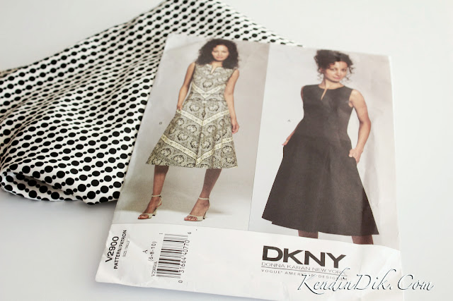 vogue kalıpları DKNY marka elbise