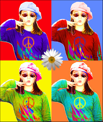pop art niña con gorra
