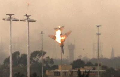 avion derribado en bengasi libia
