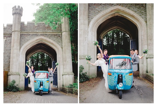 Tuktuk to the reception!