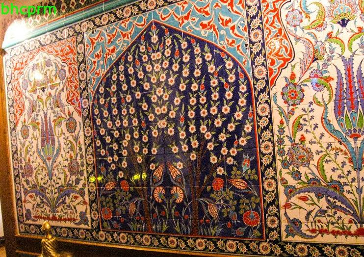 cini duvar panosu- sehzadeler muzesi