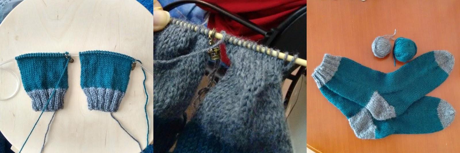 Dycas: Calcetines tejidos aprovechando restos de lanas