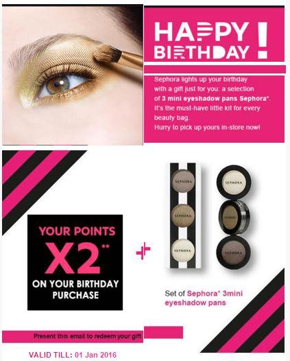 Sephora birthday gift | Life Journey