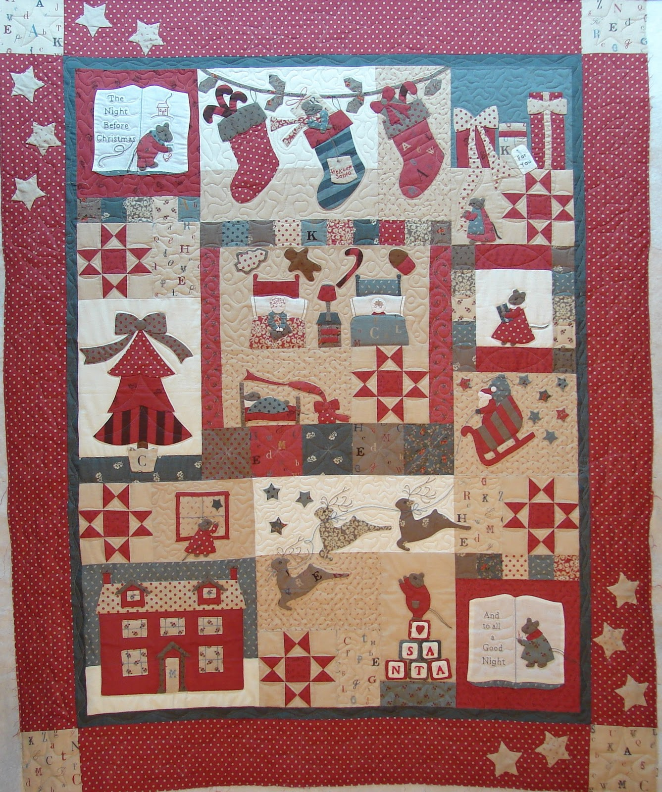Quilt Vine: The Night Before Christmas