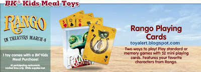 Burger King Rango Toys 2011 - Rango Playing Cards