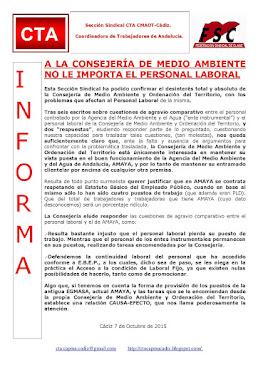 A LA CONSEJERÍA DE MEDIO AMBIENTE NO LE IMPORTA EL PERSONAL LABORAL