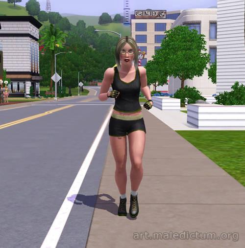 Хуманша совершает пробежку по городу