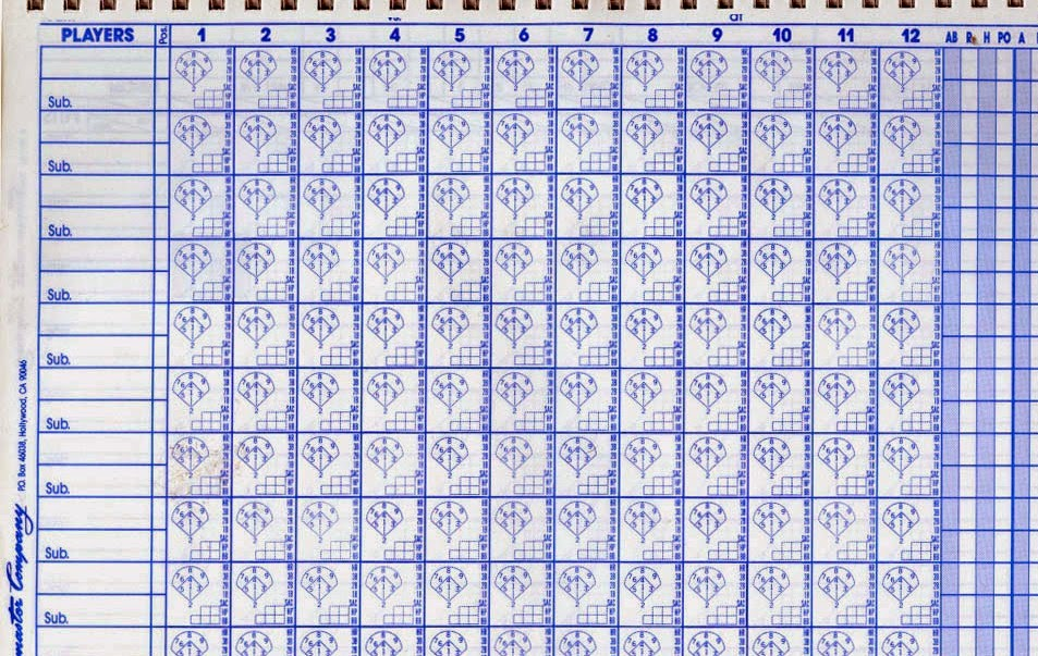 Hardball Crazy: Baseball 101: Keeping Score