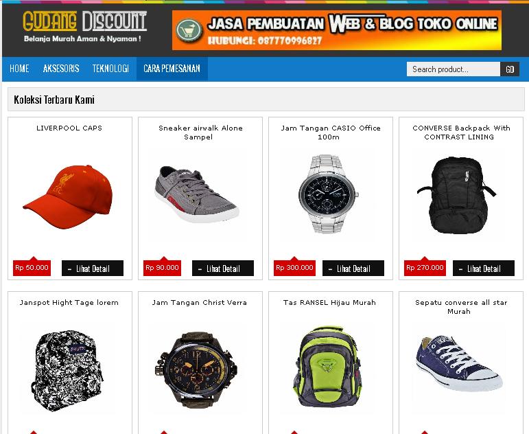 contoh blog toko online simple