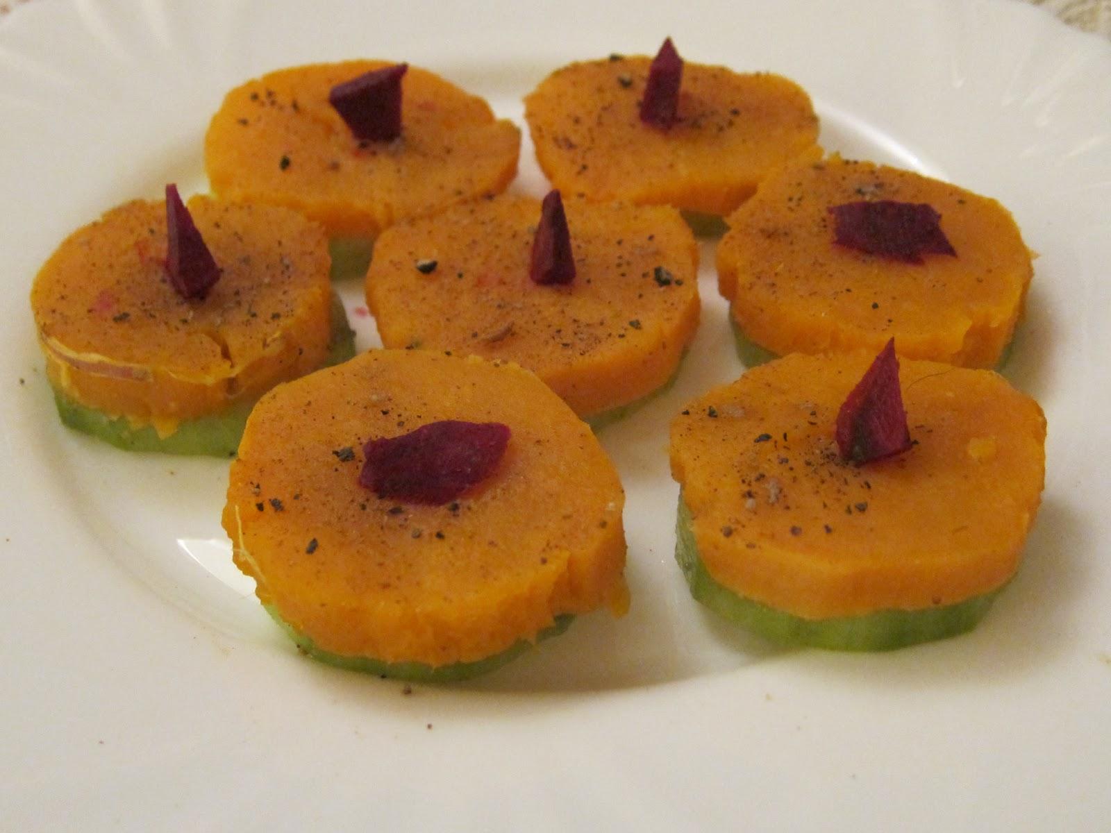 Canap s light de concombre patate douce l 39 indienne art - Cuisiner de la patate douce ...