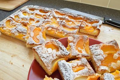 Peach Melba Squares