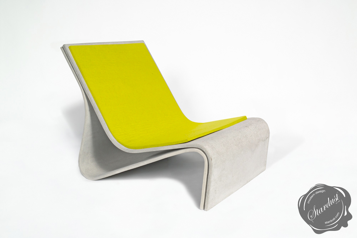 Sponeck™ Modern Concrete Outdoor Chair   Modern Outdoor Chair