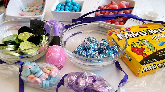 Crafting with candy and making candy leis while sharing our #ZoursFace! #Shop