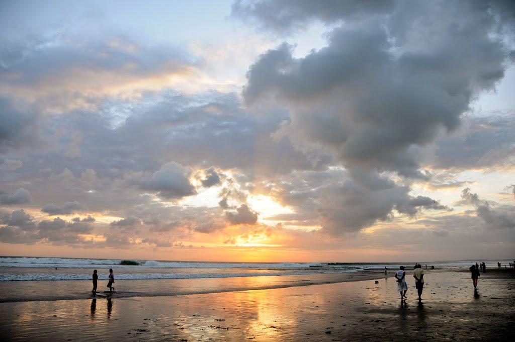 Beautiful Sunset at Seminyak Beach Bali