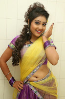 TV Anchor Priyanka in Half Saree Navel Show still-7