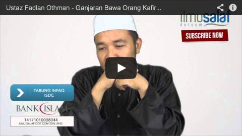 Ustaz Fadlan Othman – Ganjaran Bawa Orang Kafir Memeluk Islam