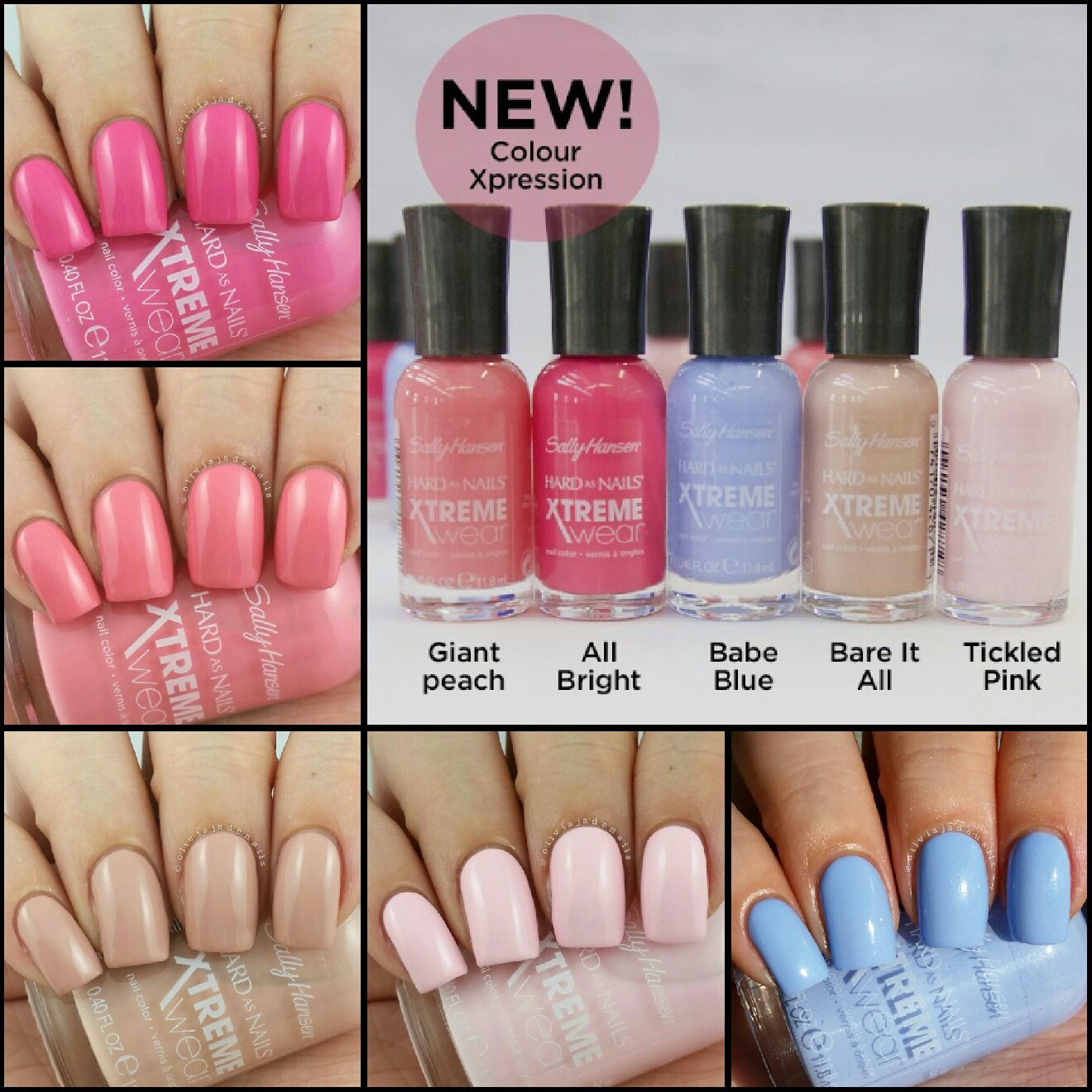 Olivia Jade Nails: Sally Hansen New Xtreme Wear Colour Xpression ...