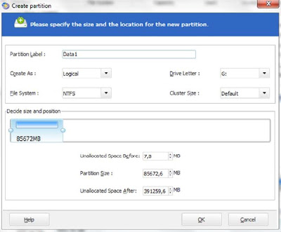 Easeus Create Partition 1