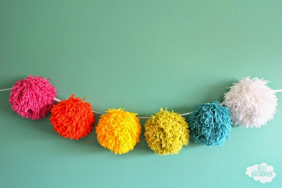 Easy Party Decorations: Giant Pom Pom Garland