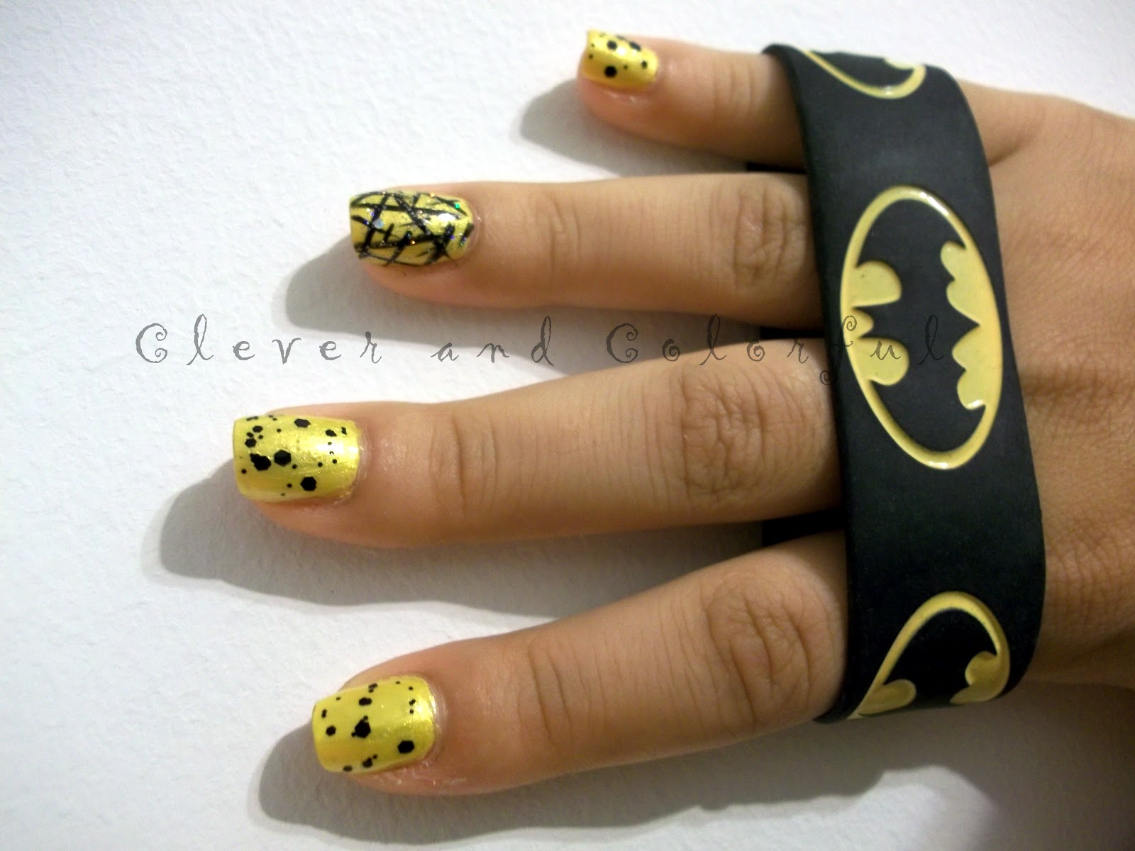 Clever and colorful batman inspired nails for otakon batman inspired nails for otakon prinsesfo Image collections