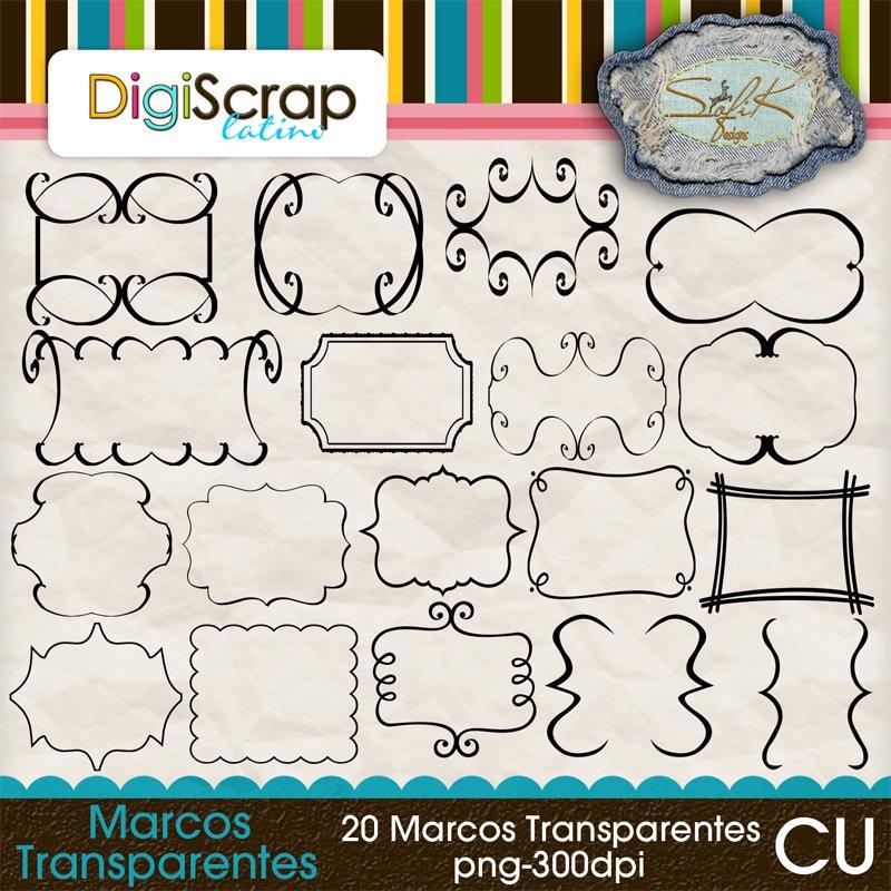 Scrap digital marcos transparentes - Marcos transparentes ...