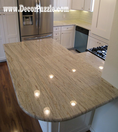 River white Granite countertops, white granite worktops, kitchen bar