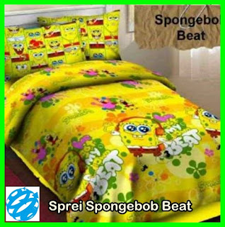 Sprei Motif Kartun Spongebob, Gorden Motif Spongebob, Gorden Karakter Kartun Murah