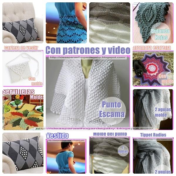 Ideas para el hogar: 10 Prendas en dos agujas y crochet para el ...