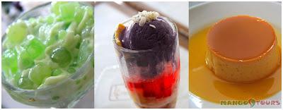 Mango Tours - The Aristocrat Restaurant: Buko Pandan, Halo-Halo, Leche Flan