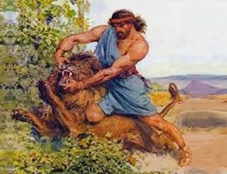 L'uomo e il leone (Fedro)