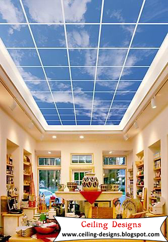 Charmant Ceiling Murals, Plastic Ceiling Tiles For Living Room